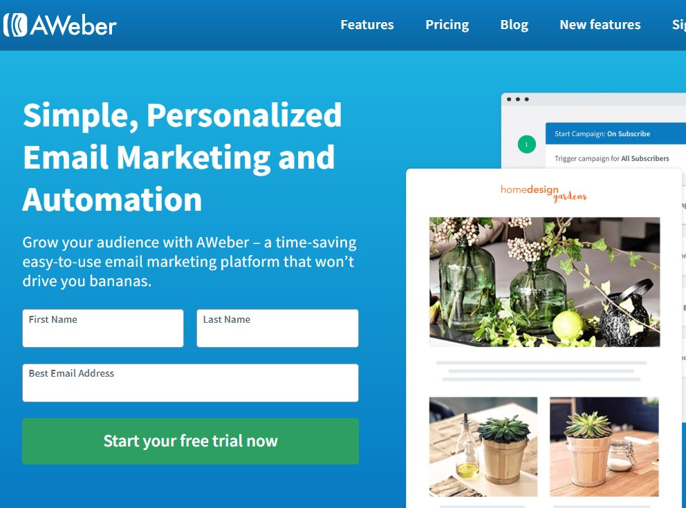 Online Promo Code Aweber Email Marketing