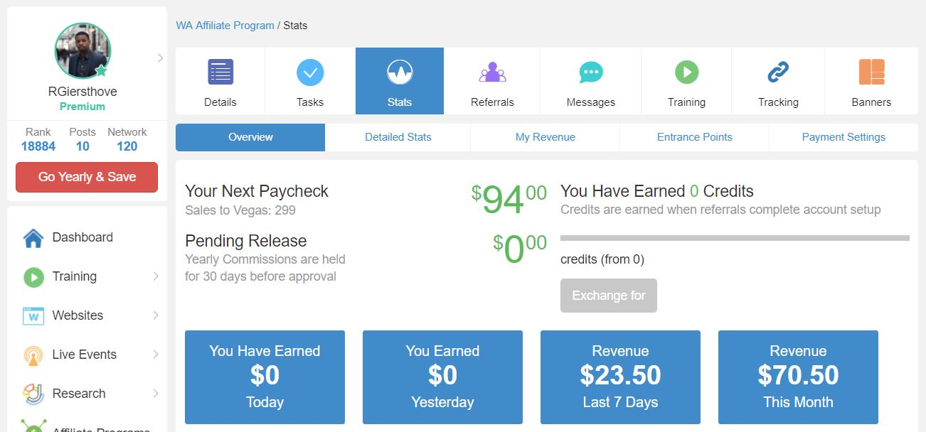 Commission Wealthy Affiliate