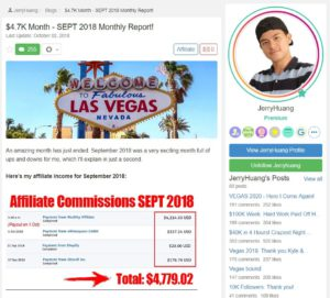 Success story Wealthy Affiliate