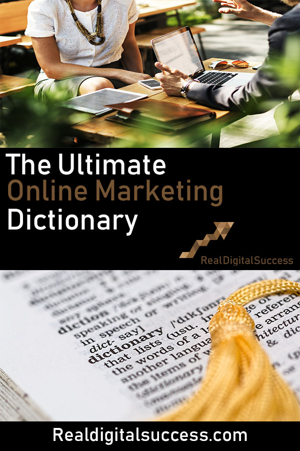 Online marketing dictionary pin