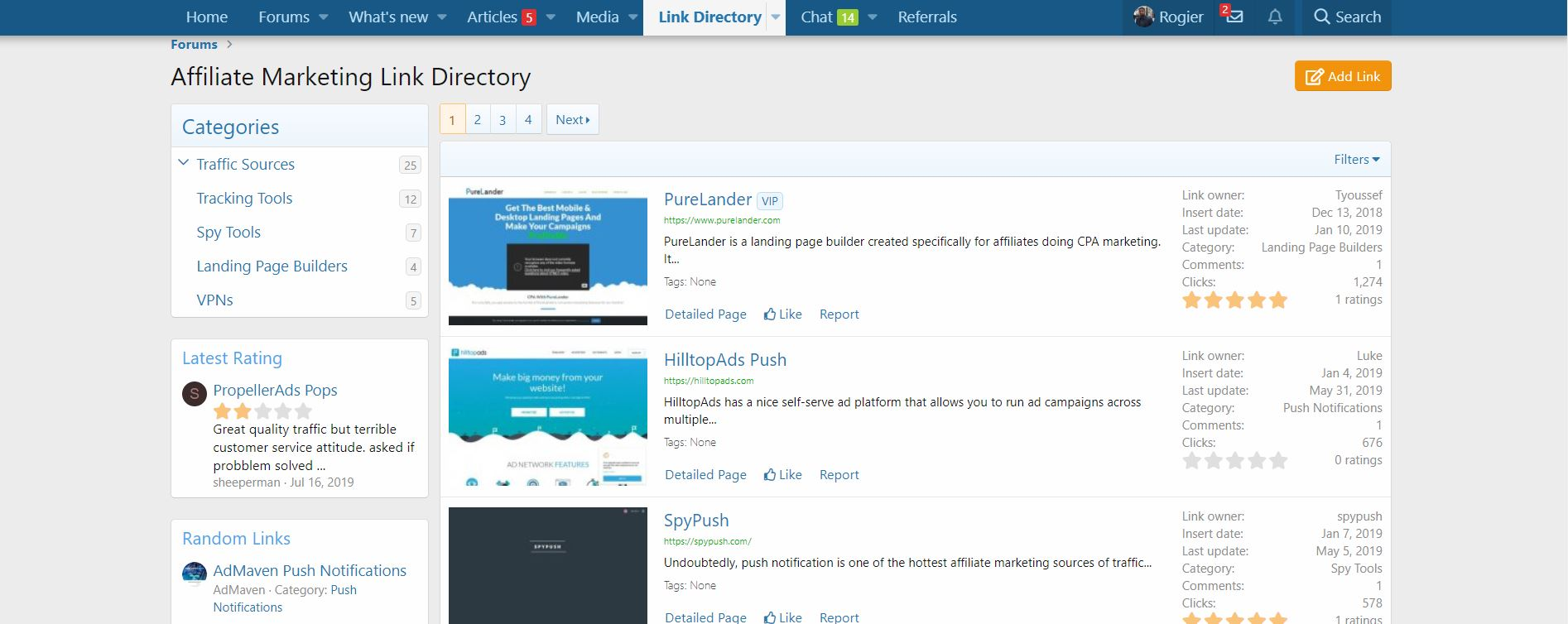afflift link directory