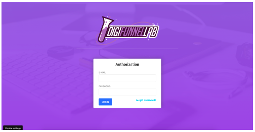 Login page digifunnel lab pro