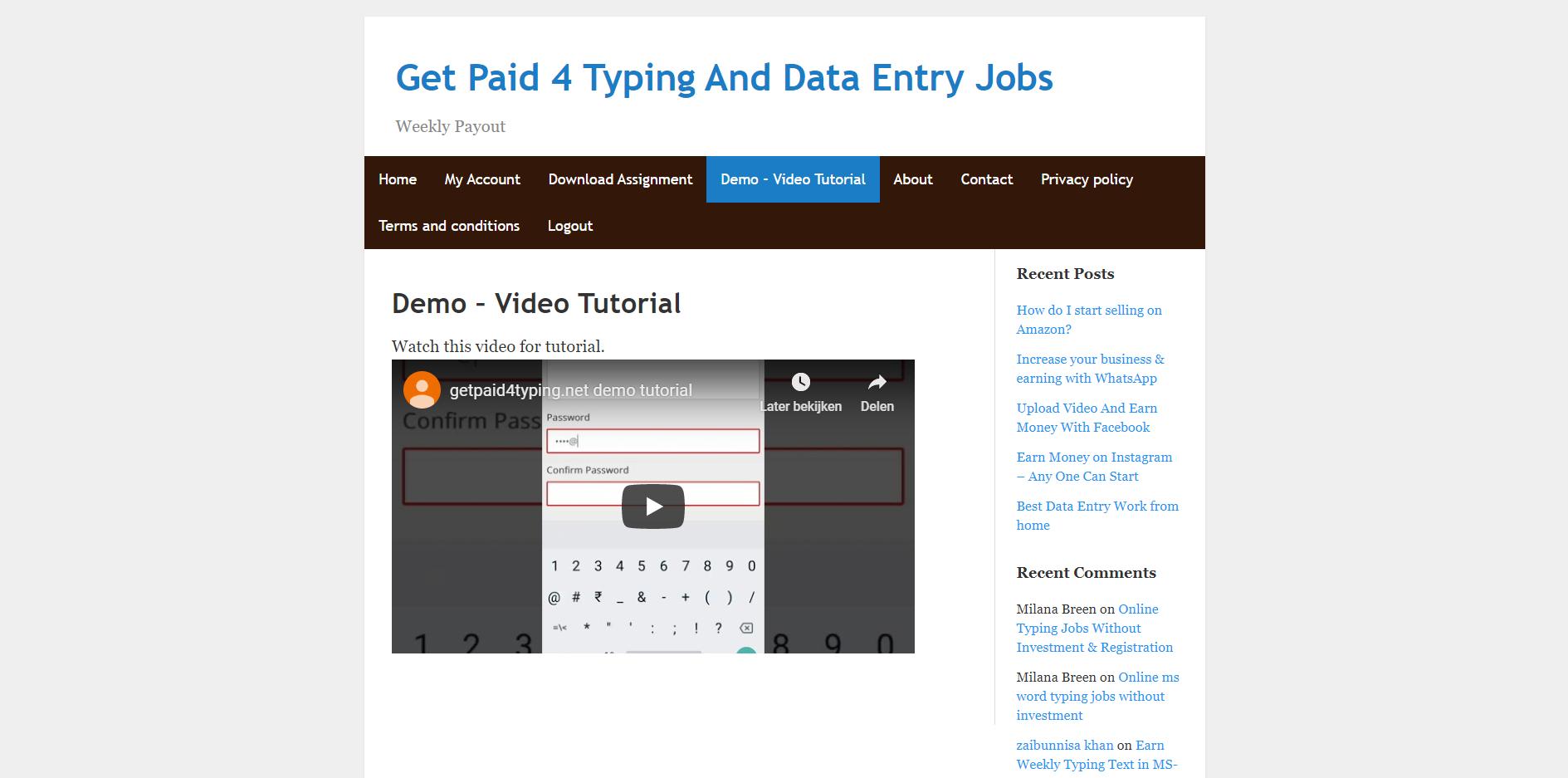 demo tutorial video
