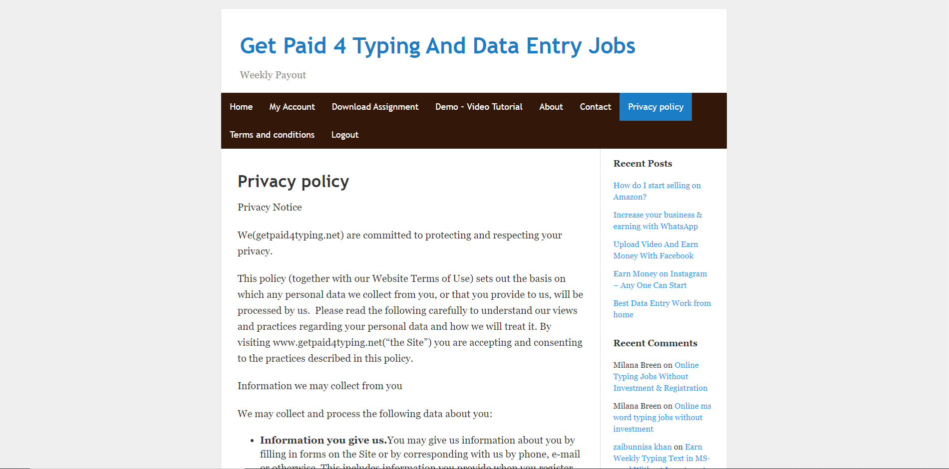 getpaid4typing.net privacy policy