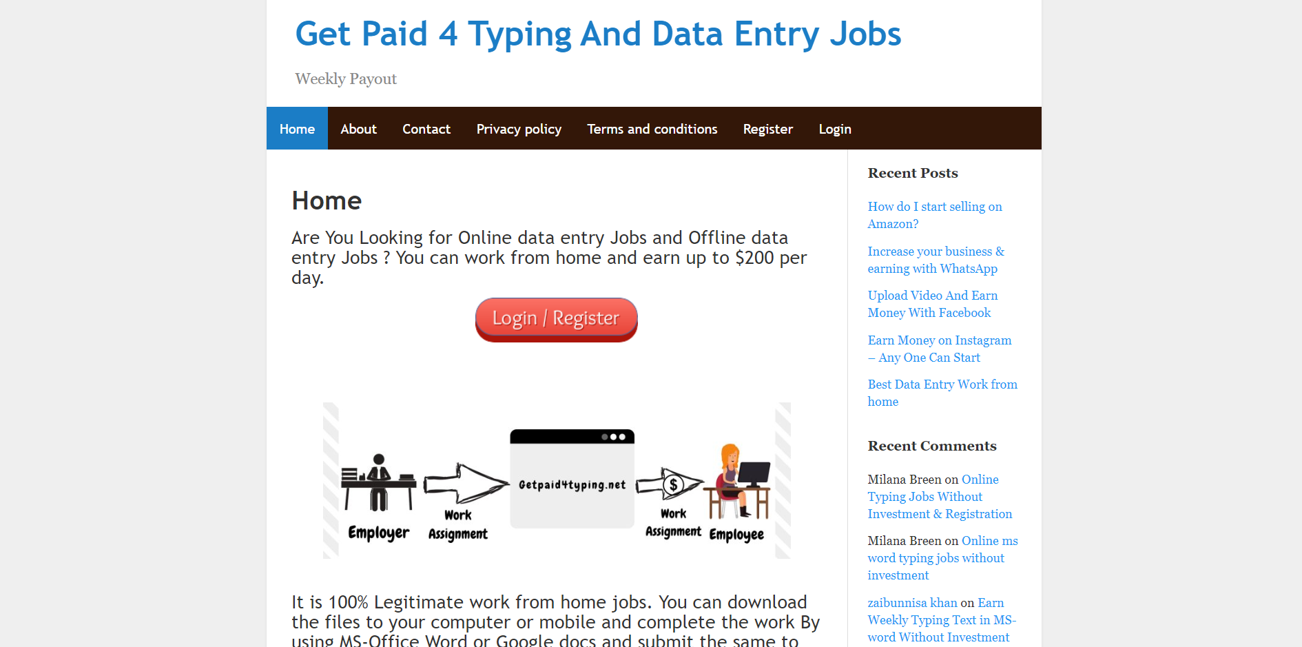 getpaidfortyping.net main page