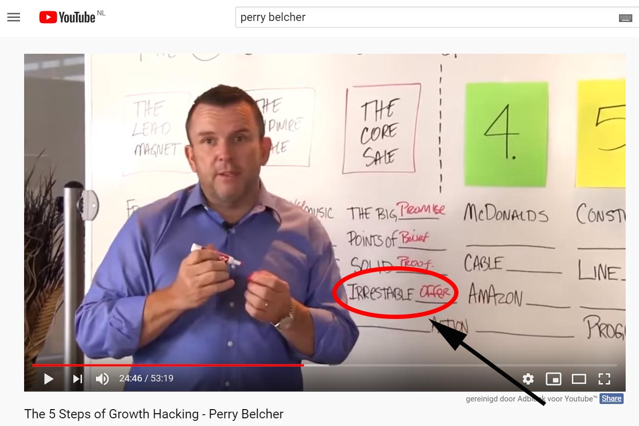 Youtube video of perry belcher