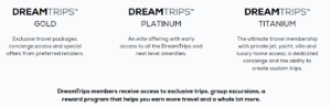 The dreamtrips packages