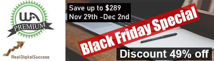 Wealthy Affiliate black friday promo