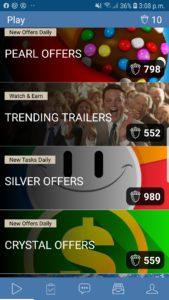 Rewardable app homepage