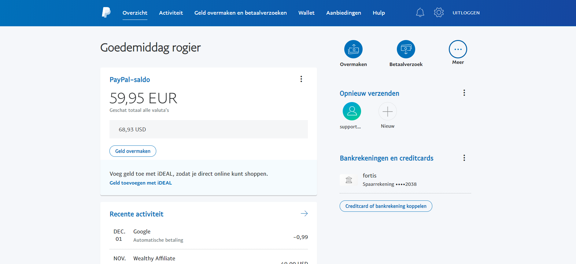 Testing Time payment paypal