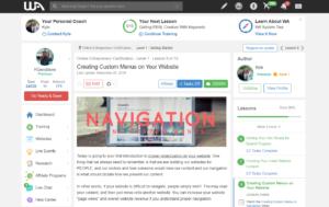 WA Lesson 8 Creating custom menus