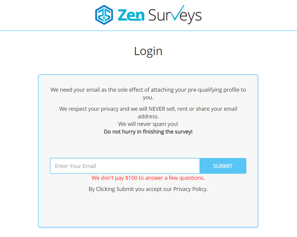 Zen surveys redirect