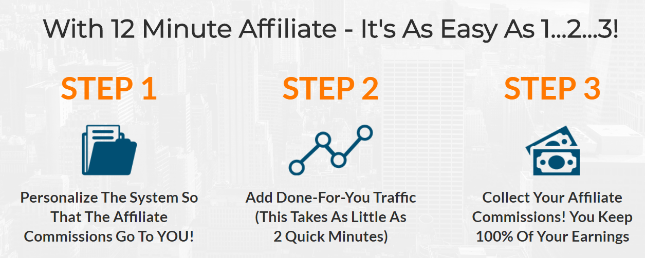 12 Minute affiliate steps