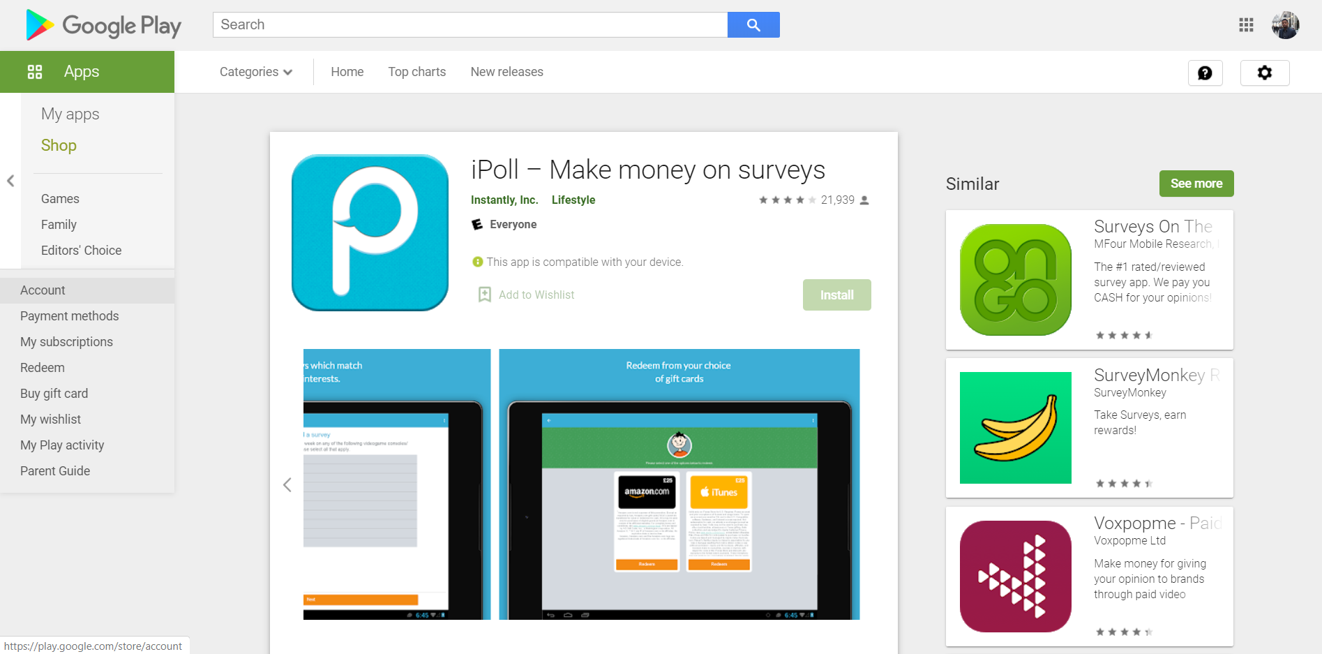 iPoll Google Play