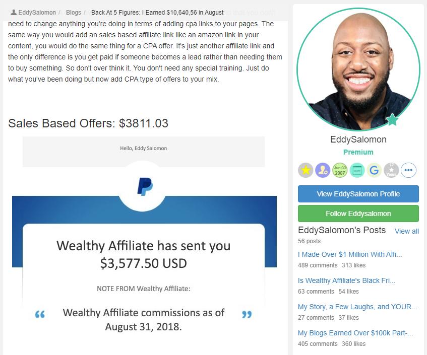 Eddy Solomon August 31 2018 income