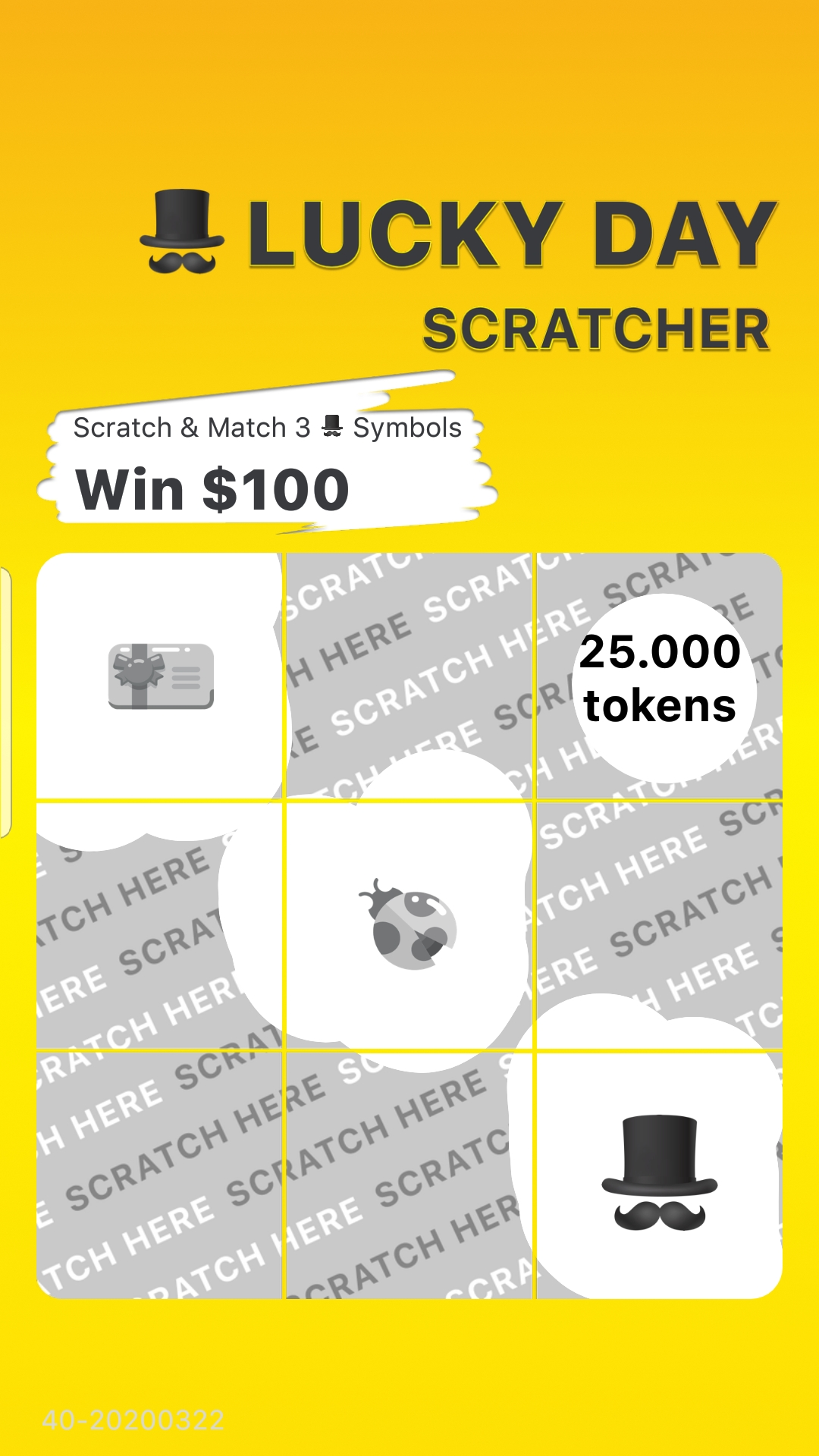 Lucky Day App Scratch Cards