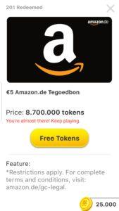 Lucky Day App Amazon Reward