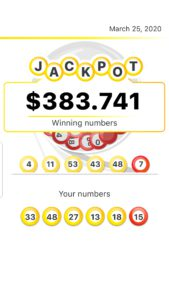 Lucky Day App winning lotto numbers