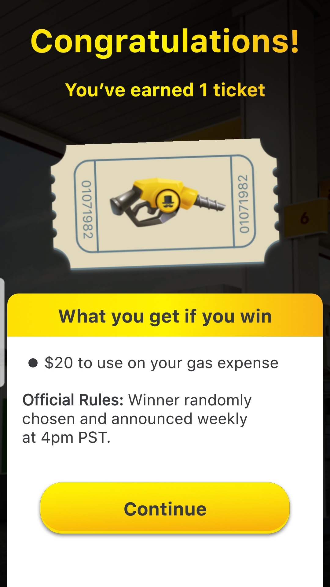 Lucky Day App win extra raffle ticket