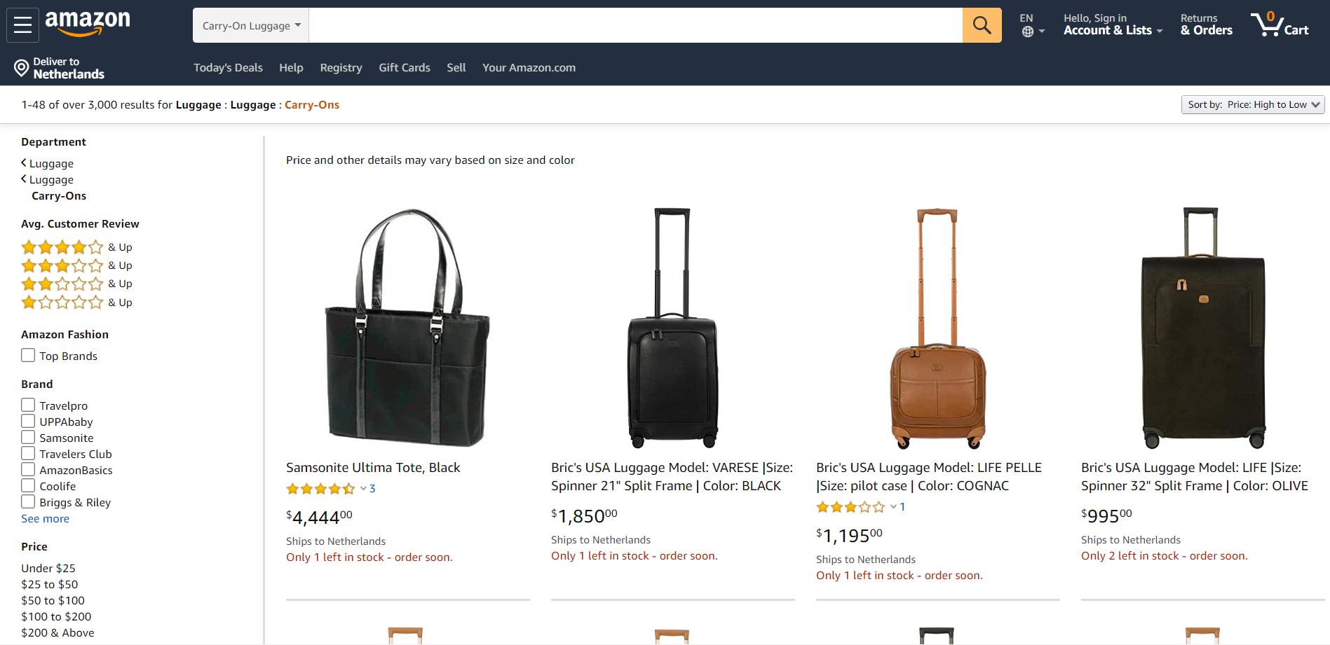 travel bags Amazon