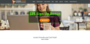 Cashload main page