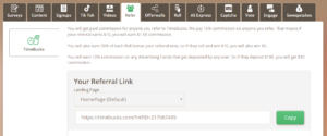 Timebucks Referral link