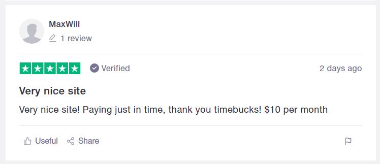 Timebucks comment 10 dollars monthly