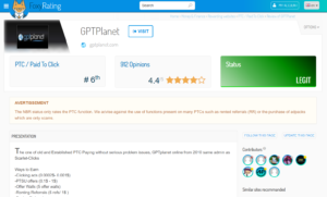 Foxy rating GPTplanet