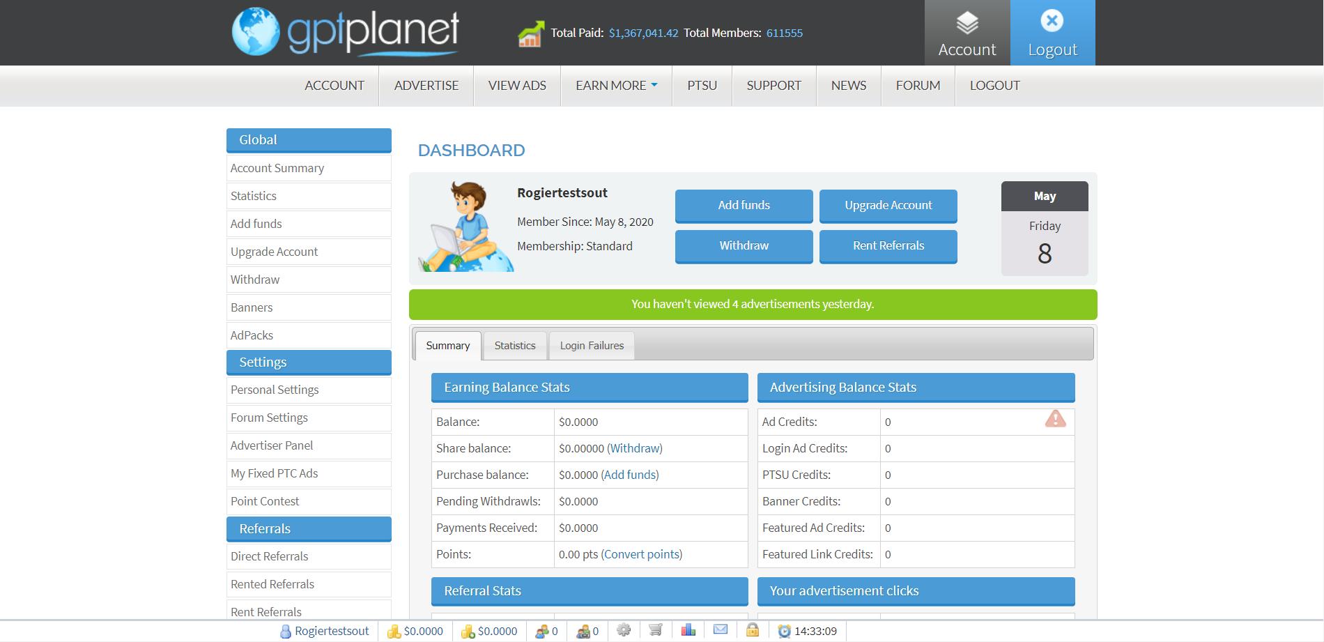 GPTplanet dashboard