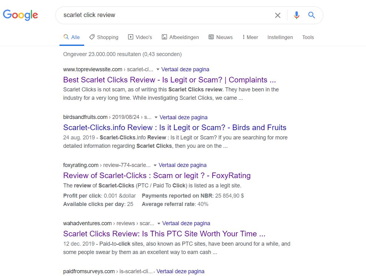 Scarlet click reviews