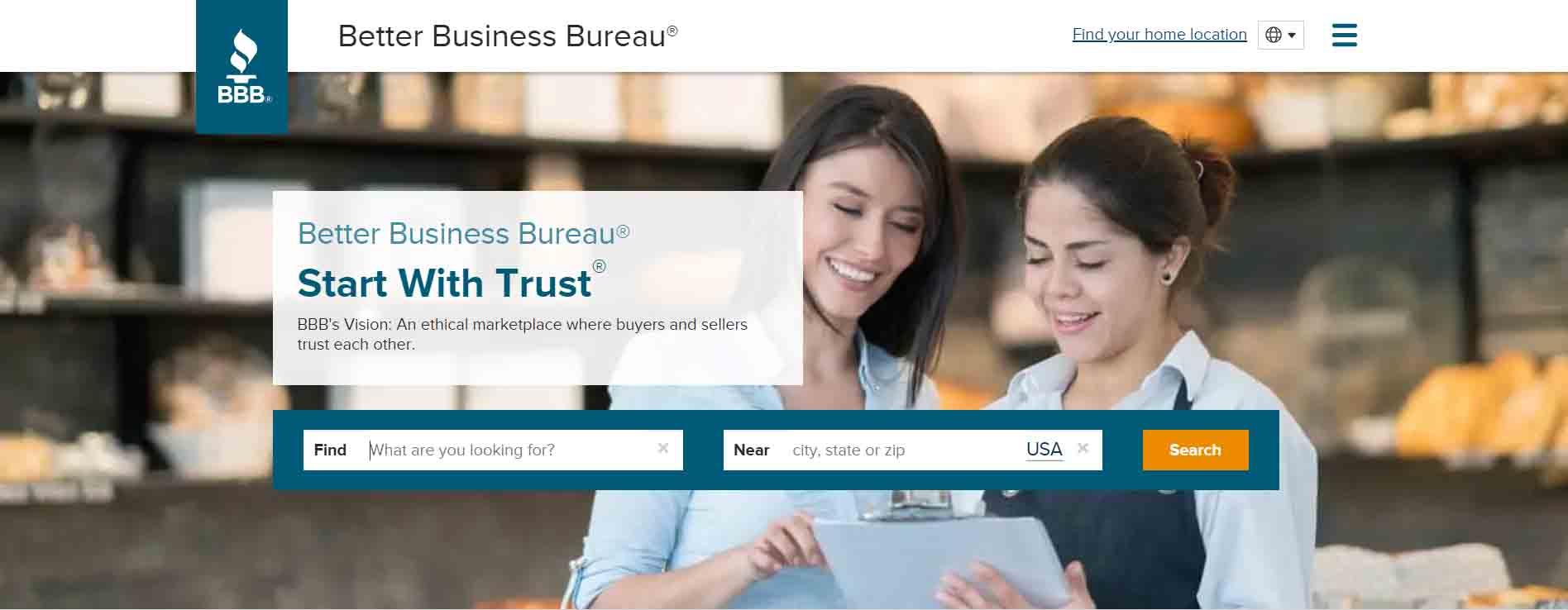 better business bureau main page