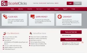 scarlet clicks dashboard