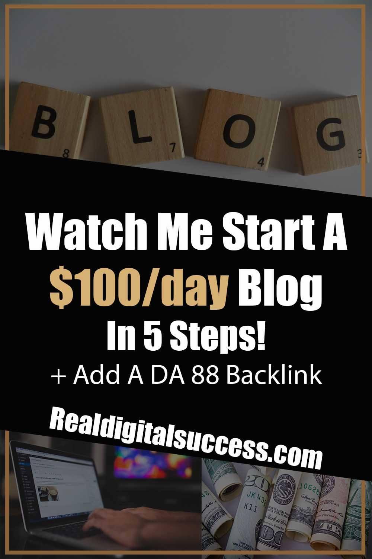 Watch Me Start A Blog!