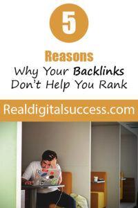 Backlinks Explained! 5 reasons your backlinks don't work