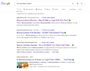 Bonus Junkies Search results