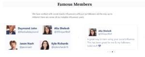 Social Bounty famous members