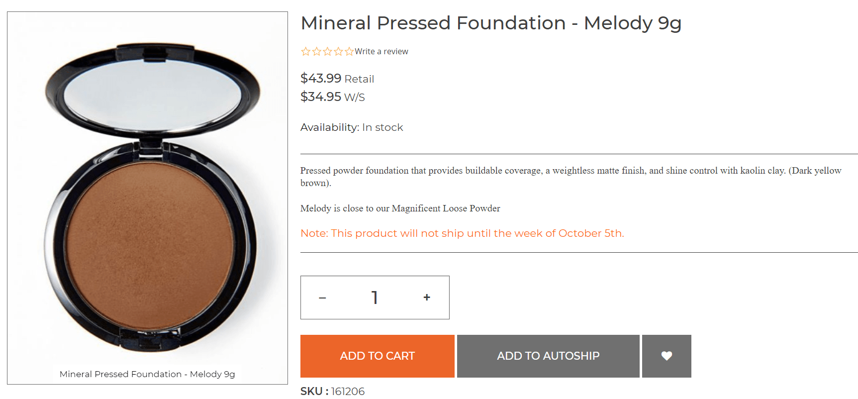 Youngevity Mineral Pressed Foundation