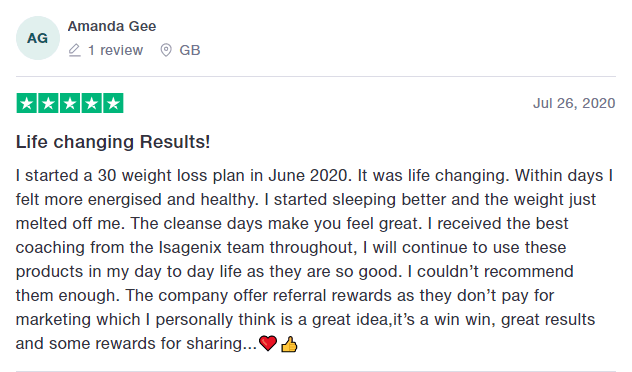 Isagenix life changing results